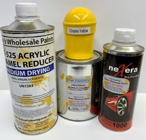 Chrome Yellow Quart Kit Single Stage Acrylic Enamel Car Auto Paint Kit