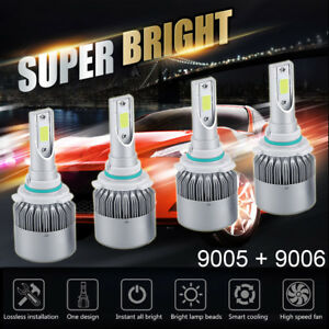 9005 9006 High Low Led Headlight Kit For Toyota Corolla 2001 2013 2800w 420000lm
