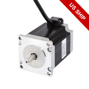 Dual Shaft Nema 23 Stepper Motor 1 9nm 269oz in 2 8a 76mm Length Cnc Robotic