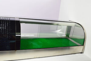 Intbuying 60 Refrigerated Sushi Display Case Stainless curved Type Display Case