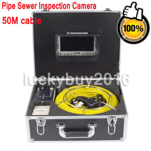 50m Sewer Waterproof Camera Pipe Pipeline Drain Inspection Snake 7 Lcd 8gb Dvr