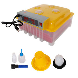 110v 60 Eggs Automatic Incubator Hatching Poultry With Alarm Function Peep Door