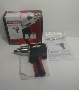 Craftsman 1 2 Inch Drive Air Impact Wrench 7400 Rpm Single Hammer 16882 Bargain