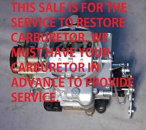 1952 57 Your Cadillac Carter Wcfb Restored Year Warranty You Send Your Carb In