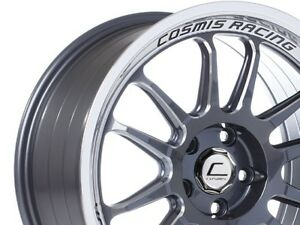 Cosmis Racing Xt206r 18x9 33 5x100 Gunmetal W Machined Lip single 1 Wheel