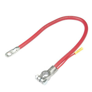 20 Inch Red 2 Gauge Top Post Battery Cable With 4 Inch 12 Gauge Leads