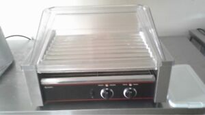 Adcraft Rg 09 Hot Dog 9 Roller Grill With Sneeze Guard