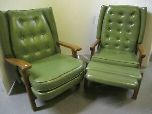 Vtg 1960s Set Whiskey Barrel Distillery Chairs Recliner Arm Chair Will Ship