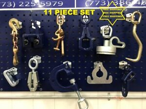 11 Piece Auto Body Frame Machine Tools And Clamp Chain Set Free Shipping