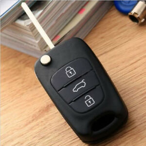 Car Folding Remote Key Shell Case Cover Flip Fob 3 Buttons For Hyundai I20 I30