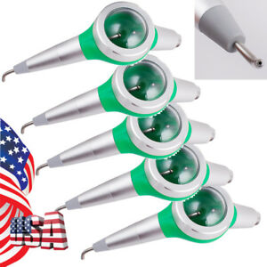 5pcs Dental Hygiene Jet Air Polisher Teeth Polishing Green Handpiece 2 Hole Easy