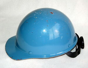 Steelworker s Hard Hat Helmet Fiberglass Construction Used