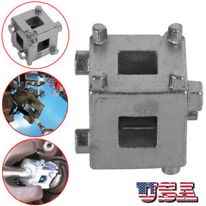 Car Rear Disc Brake Piston Caliper Wind Back Cube 3 8 Inch Calliper Adaptor Tool