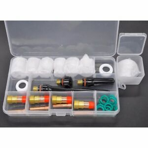 30pcs Tig Welding Torch Stubby Gas Lens 12 Pyrex Glass Cup Kits For Wp 17 18 26