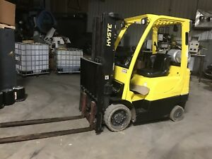 2012 Hyster S50ft Warehouse Industrial Forklift 5k Lift Truck W side Shift
