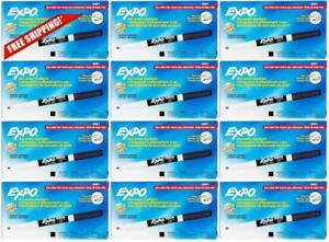 Expo Low Odor Fine Tip Dry Erase Markers Black 86001 case Of 12 Dozen