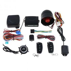 12v Car Auto Engine Push Start stop Button Keyless Remote Starter Alarm System