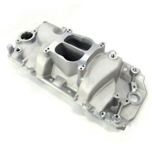 Revolution Intake Manifold 9161 Oval Port Dual Plane Satin Aluminum For Bbc