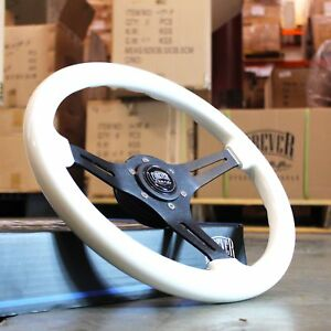 350mm Universal Brushed Black White Yellow Steering Wheel Factory Second