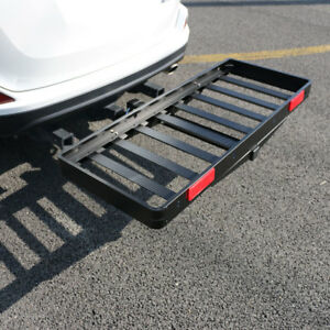 Aluminum Cargo Carrier Luggage Rack Bumper Hitch Ball Mount Rv Truck 2 Receiver