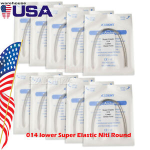 Usps 50x Dental Orthodontic 014 Lower Super Elastic Niti Round Arch Wires 500pcs