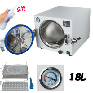 Medical Dental Autoclave Steam Sterilizer Disinfect Machine Sterilization W Tray