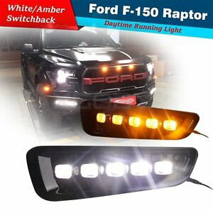 Led Drl For Ford F150 F 150 Raptor 2016 2017 2018 Daytime Running Lights W Turn