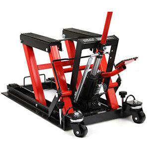 Motorcycle Workbench Lift Jack 1500lb 680kg Hydraulic Atv Stand Table Bench