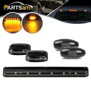 Amber Cab Clearance Marker Lights Clear Lens Smoke Fender Marker For Chevy gmc