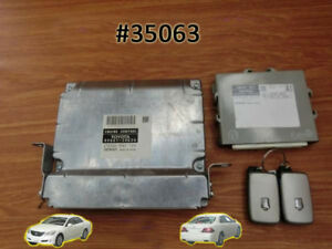 Toyota Crown Grs200 2008 Engine Computer Ecu Ecm Smart Key Computer Set Of 2 Key