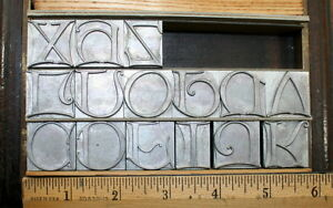 New 72pt Atf Calligraph Initials Foundry cast Types Letterpress