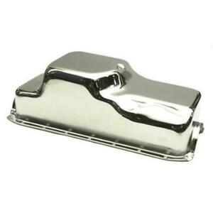Speedway 91017705 Dodge Plymouth Mopar 360 Stock Chrome Front Sump Oil Pan
