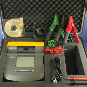 Fluke 1550c 5kv 5000 V Volt Insulation Tester Deluxe Kit Hard Case