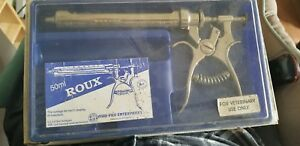 Roux Syringe 50 Ml Pistol Grip For Injections Reverse Threads On Rear Handle
