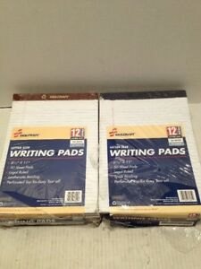 Skilcraft Writing Pad 8 1 2 x11 3 4 Letter 5 16 Rule 50 Shts 2 12pk