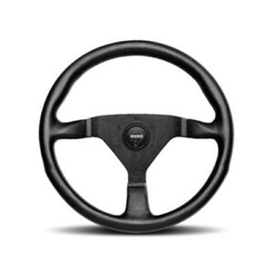 Momo Monte Carlo Alcantara Steering Wheel 350mm With Black Leather Grip