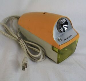 Panasonic Yellow Electric Pencil Sharpener Vintage Retro Ships Next Day