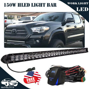 150w 30 Led Light Bar W Lower Bumper Brackets Wirings For 05 up Toyota Tacoma