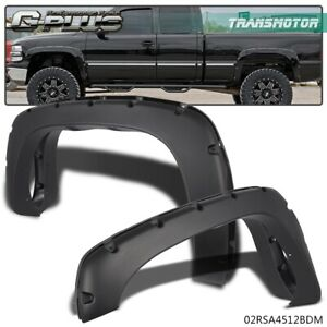 For 99 06 Chevy Silverado Gmc Sierra Pocket Style Bolt On Rivet Fender Flares
