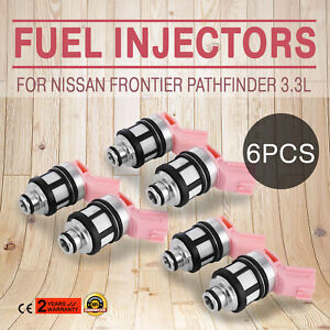 6pcs Set New Fuel Injectors For Nissan 3 3l Frontier Pathfinder