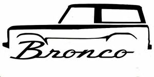 Ford Bronco Decal High Quality Material 6 X2 25