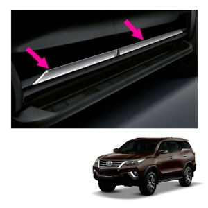 Fits Toyota Fortuner 15 17 18 Body Cladding Side Molding Guard Genuine Chrome