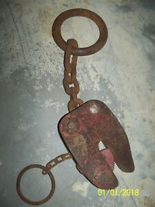 Nice Old Vintage 1 3 16 Jaw Steel Plate Lifter Puller Rigging Clamp