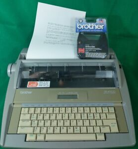 Brother Sx 4000 Electronic Typewriter Lcd Display Extra Ribbon Correction