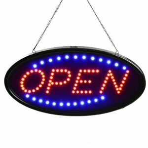 Led Open Sign Electric Motion Flashing Advertising Shop Window Business Light