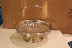 Tiffany Co Sterling Silver Pierced Basket With Handle 18291