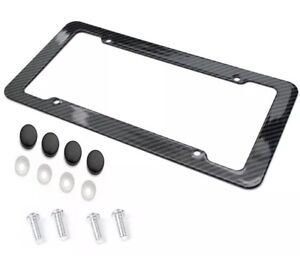Carbon Fiber Plastic License Plate Frame quality Black Standard Fit