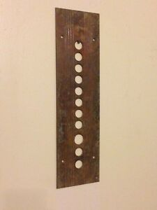 Antique Brass Elevator Panel Rustic Collectible