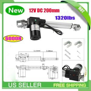 6000n Linear Actuator 12v Electric Motor For Solar Track Auto Door Lifting Mx