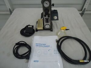 Efd 1500xl c Fluid Dispensing System W Air Hose Power Cord Foot Pedal Manual